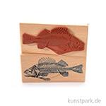 Stempel - Fisch Fossil, 6 x 13 cm