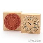 Stempel - Große Uhr - 8x8 cm