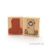 Stempel - Tina - Tür mit Mistelzweig - 8x9 cm