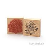 Stempel - Tina - Weihnachtsvogelhäuschen - 7x7 cm