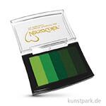 Stempelkissen Versacolor - Grün-Töne, 5 Farben sortiert