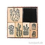 Stempelset - Hygge Cactus mit 6 Stempel