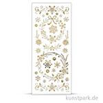 Sticker aus transparenter Silberfolie Weihnachtssterne, 10x24 cm, Gold