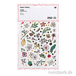 Sticker - Hygge Flowers, 6 Blatt