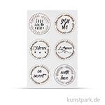 Sticker - Love, 24 Stück sortiert