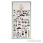 Sticker - Mustache, 15x9,2 cm