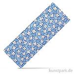 Stoffzuschnitt 100x150 cm - Blumen Blau