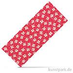 Stoffzuschnitt 100x150 cm - Blumen Himbeerrot