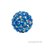 Strasskugel - Blau