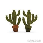 Streuteile Kaktus, 4x6,5 cm, 3 Stück sortiert