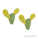 Streuteile, Kaktus, Holz 8 Stück 3,5x3,5cm