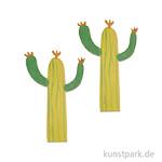 Streuteile Kaktus, Holz, 8 Stück 5x3cm