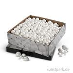 Styropor - Kugeln und Eier, Größe 1,5-6,1 cm, 550 sortiert