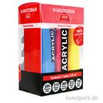 Talens AMSTERDAM Acrylfarbe Standard Series Set mit 5x120 ml und 3 Dosierspitzen