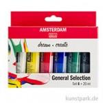 Talens AMSTERDAM Acrylfarbe Standard Series Introset I mit 6 Tuben 20 ml