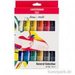 Talens AMSTERDAM Acrylfarbe Standard Series Introset II mit 12 Tuben 20 ml