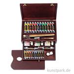 Talens REMBRANDT Ölfarbe Holzkasten Master mit 24 Farben und Zubehör