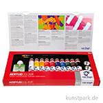 Talens VAN GOGH Acrylfarbe Kombi-Set mit 10 x 40 ml Tuben und Zubehör