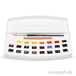 Talens VAN GOGH Aquarell Kunststoff-Set Botanische Farben, 24 halbe Näpfe