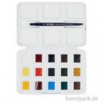 Talens VAN GOGH Aquarell Pocket Box mit 12+3 halben Näpfen