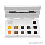 Talens VAN GOGH Aquarell Pocket Box Naturfarben mit 12 halben Näpfen