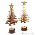 Tannenbaum-Set aus Lederpapier