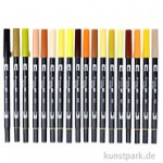Tombow Brush Pen - Set 18 Erdfarben