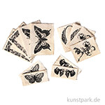 Vintage Canvas Label - Natur, 12 Stück sortiert