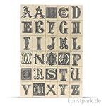 Vintage Canvas Sticker - Buchstaben, selbstklebend