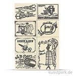 Vintage Canvas Sticker - Näherei, selbstklebend