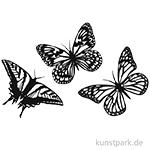 Vintage Laser Dekoration - Schmetterling, 3 Stück sortiert
