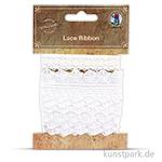 Vintage Spitzenband - Weiß, 1,5 - 3,2 cm x 1 m, 2 Stück sortiert