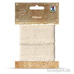 Vintage Stoffband - Natur Hell, 3 cm x 1 m