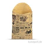 Vintage Tüten - News aus Kraftpapier, 7 x 10,2 cm, 6 Stück