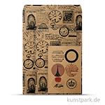 Vintage Tüten-Set - Time aus Kraftpapier, 10,5 - 21 cm, 6 Stück sortiert
