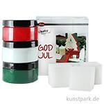 Viva Decor Chalky Vintage-Look God Jul Edition, 3 Farben & Zubehör