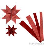 Vivi Gade Flechtstreifen mit Glitzer- und Lackoberfläche - Rot, 40 Stück sortiert