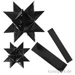 Vivi Gade Flechtstreifen OUTDOOR aus wetterfester Folie - Schwarz, 16 Stück sortiert