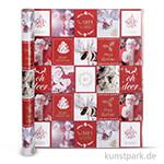 Vivi Gade Geschenkpapier - Weihnachtsmotive Nostalgie, Breite 50 cm 3 m