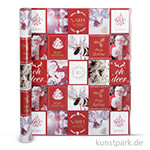 Vivi Gade Geschenkpapier - Weihnachtsmotive Nostalgie, Breite 50 cm