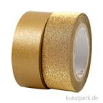 Vivi Gade Motiv-Klebeband Washitape 15 mm - Set mit 2x5 m Gold