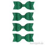 Vivi Gade Schleifen aus Glitzer-Papier, 4 Stück 31x85 mm | Grün