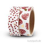 Vivi Gade Washitape - Punkte Rot, 15 mm, Set mit 2x4 m