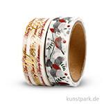 Vivi Gade Washitape - Weihnachten und Vögel, 15 mm, 2x4 m