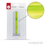 Wachsfolie-Aquarell-Streifen - Grün-Gelb, 20x10 cm, 1 Stück