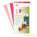 Wachsfolie - Rosa-Töne, 20x6,5 cm, 4 Farben sortiert