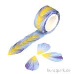 Washi-Sticker - Blüten Blau, 200 Stück