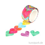 Washi-Sticker - Herzen, 200 Stück