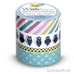 Washi-Tape - Eulen, 4er-Set