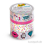 Washi-Tape Hotfoil - IRISIEREND Silber, 4er Set
